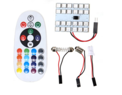 Luces Led Para Techo tipo Galleta 24 Leds de Colores con Control